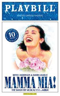 Mamma Mia! - 10th Anniversary Limited Edition Commemorative Playbill with Blue Logo